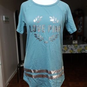 Light blue LOVE PINK tshirt size S
